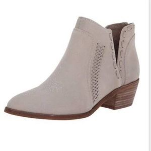 Vince Camuto Presita gray suede ankle booties